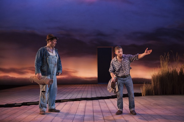 Kristian Phillips (Lennie) and William Rodell (George) in Of Mice And Men (4)