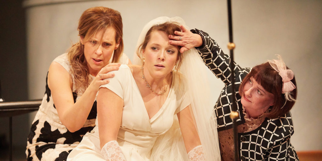 Much ado about nothing, Kate Lamb, Mel Giedroyc and Katherine Toy photo (c) Mark Douet